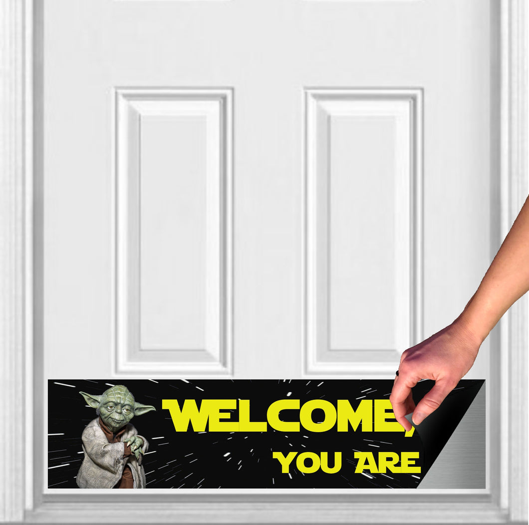 Welcome, You Are Yoda Magnetic Door Sign Kick Plate, 8
