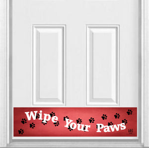 "Wipe Your Paws Magnetic Kick Plate for Steel Door, 8"" x 34"" and 6"" x 30"" Size Options"