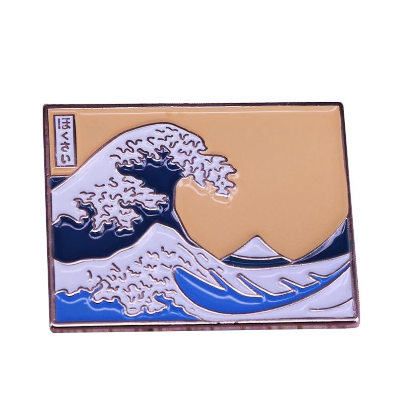 Japanese Painting The Great Wave Pin