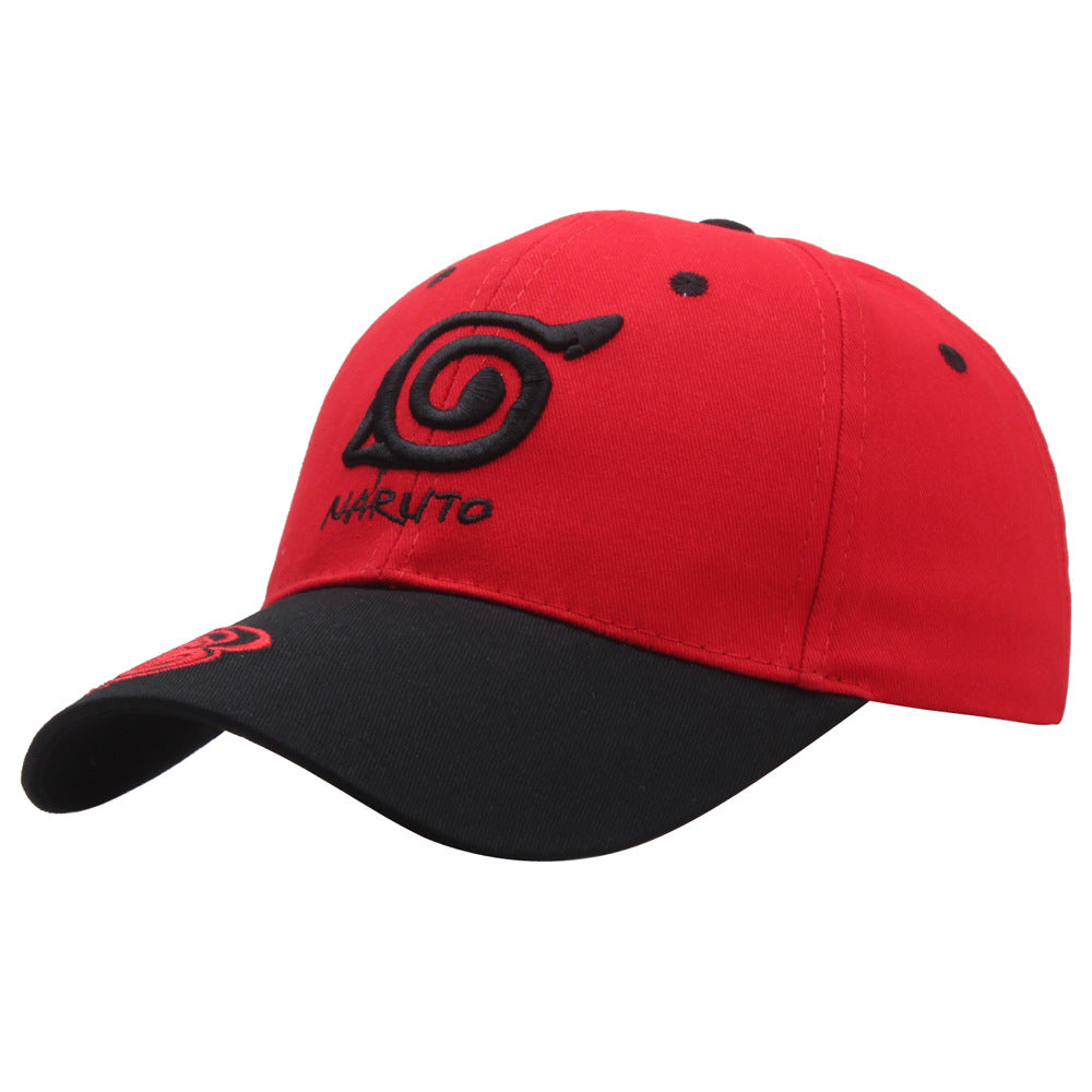 Naruto Red Black Baseball Cap