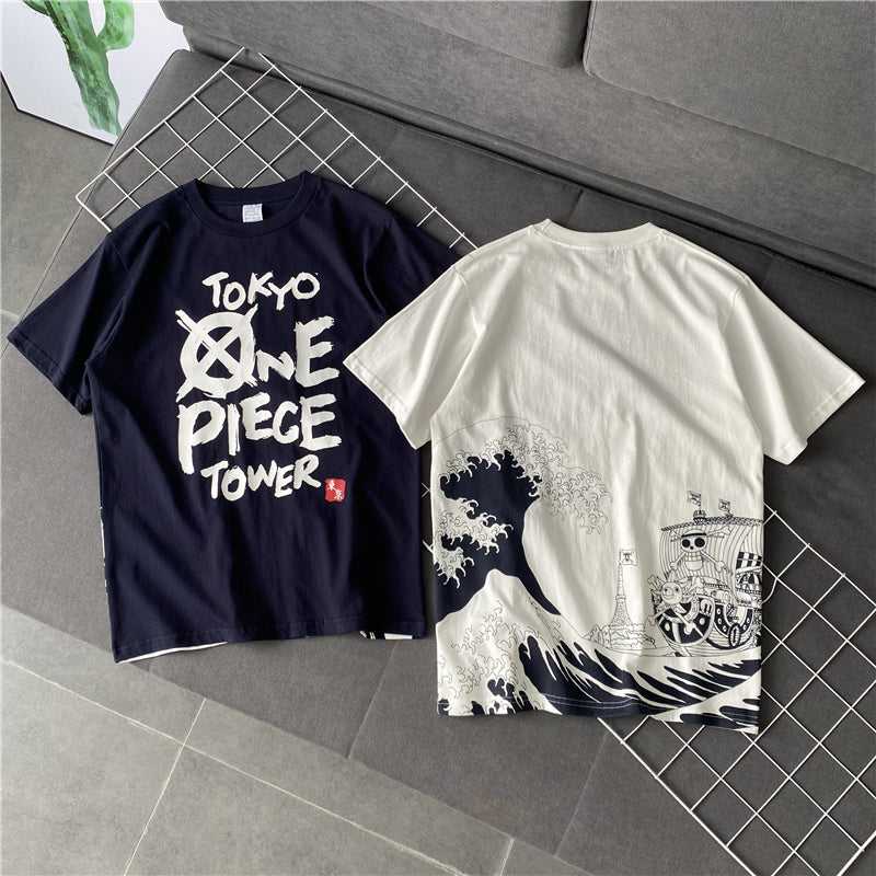 One Piece Great Wave Cotton T-shirt