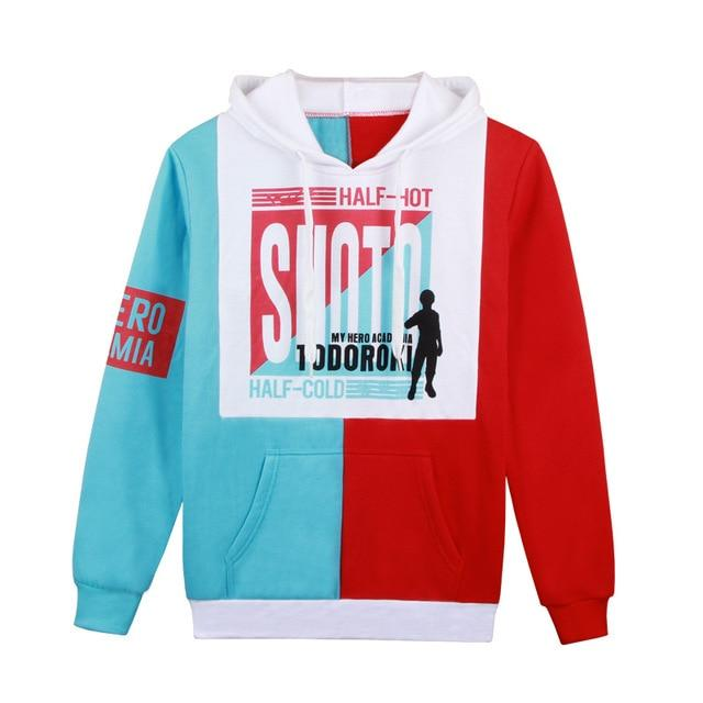My Hero Academia Todoroki Hot and Cold Hoodie