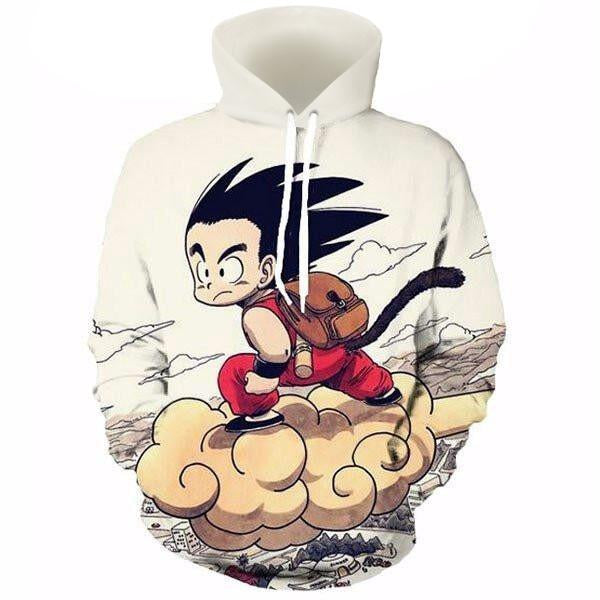 Dragon Ball Kid Goku On Nimbus Hoodie