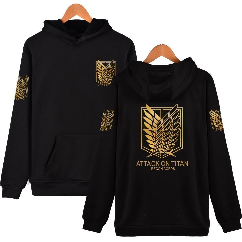 Attack On Titan Survey Corps Golden Emblem Hoodie