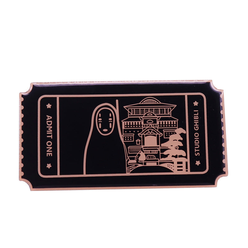 Spirited Away One Way Ticket Pin