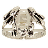 Polished Frog Moveable Legs Ring