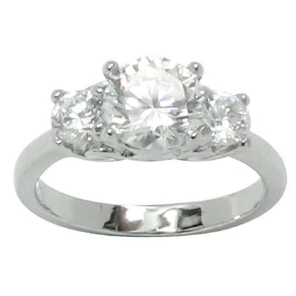 Classic Round Prong Set Engagement Style Ring