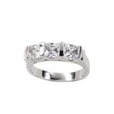 Exquisite Sterling Silver Handset Channel Setting Ring