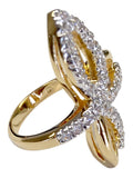 Love Me Knot Clear Stone Goldtone Ring