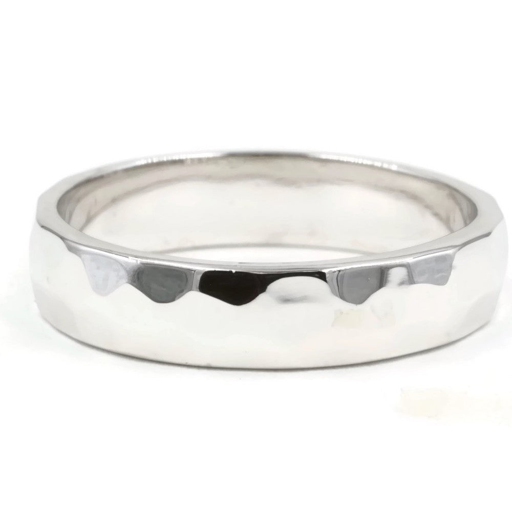 Hammered Sterling Silver 4mm Band Ring