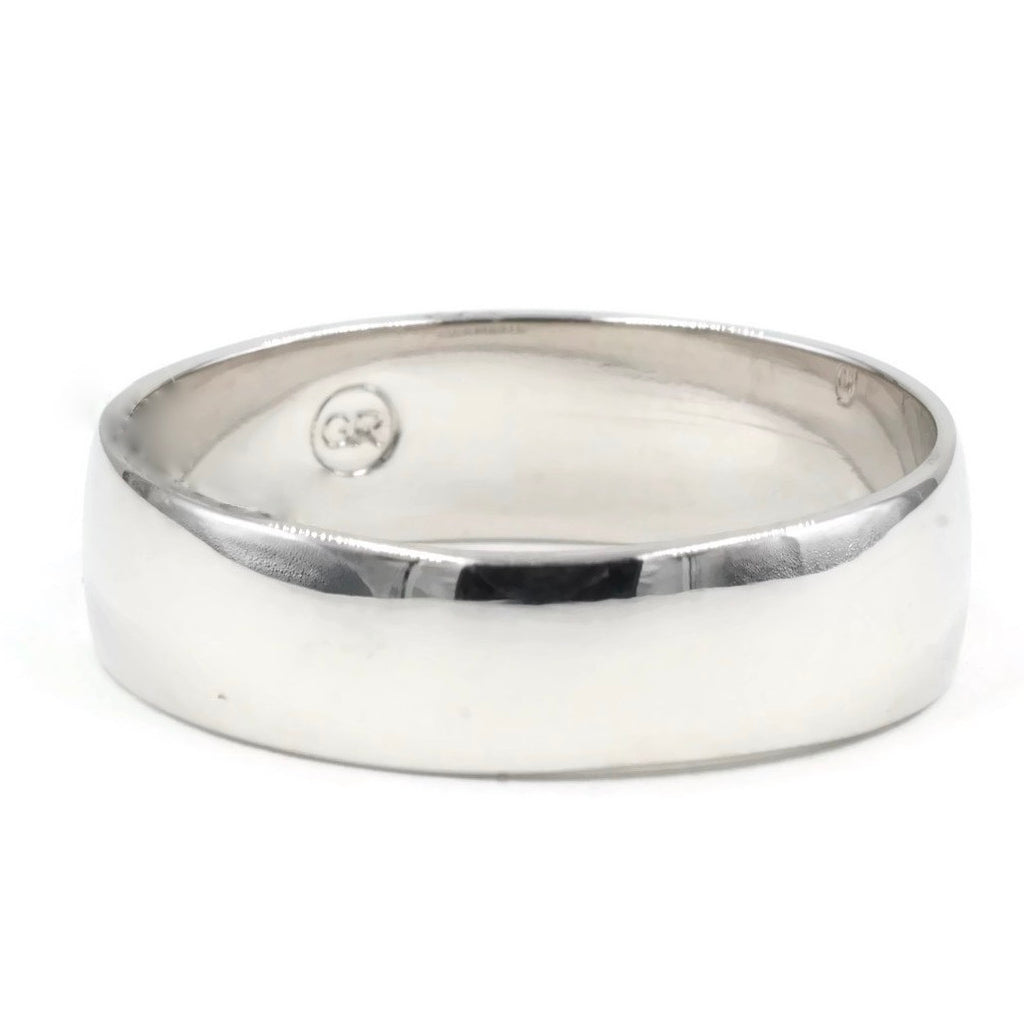 Wedding Style Band Sterling Silver Ring