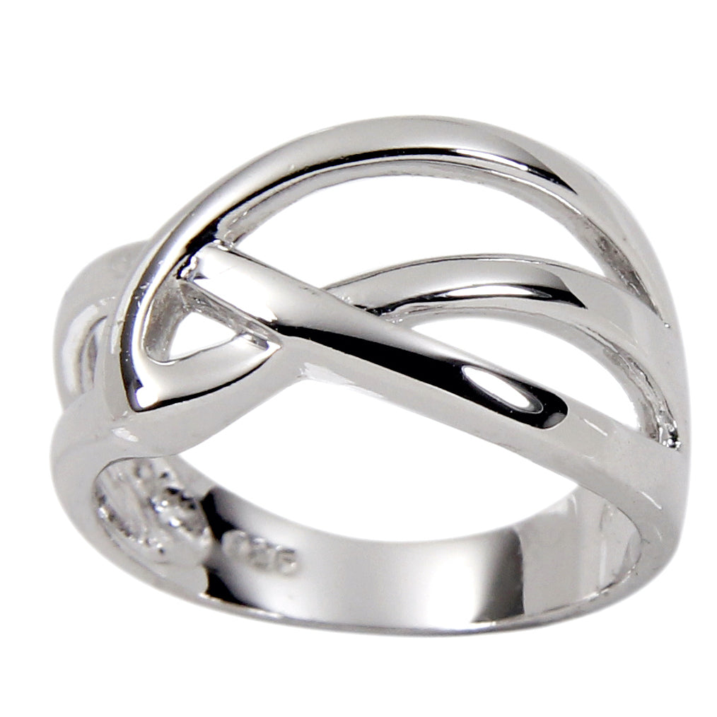 Intertwined Loop Sterling Silver Ring