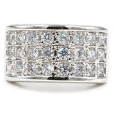 Twenty Four Stone Three-Row Pave Set Band Ring