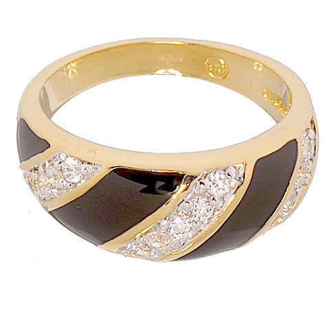 Handset Two Tone Classic Dome Black Epoxy Ring