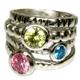 Mix and Match Trendy Set of Four Stackable Rings