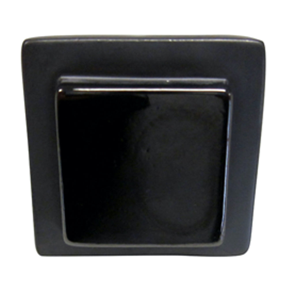 Exclusive Large Solid Two Tone Square Shiny Matte Black