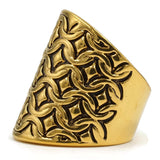 Exclusive Eye Catching Wrap Quilted Texture Antique Accent Ring