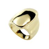 Big Solid Abstract Fold Over Gold Tone Fashion Ring
