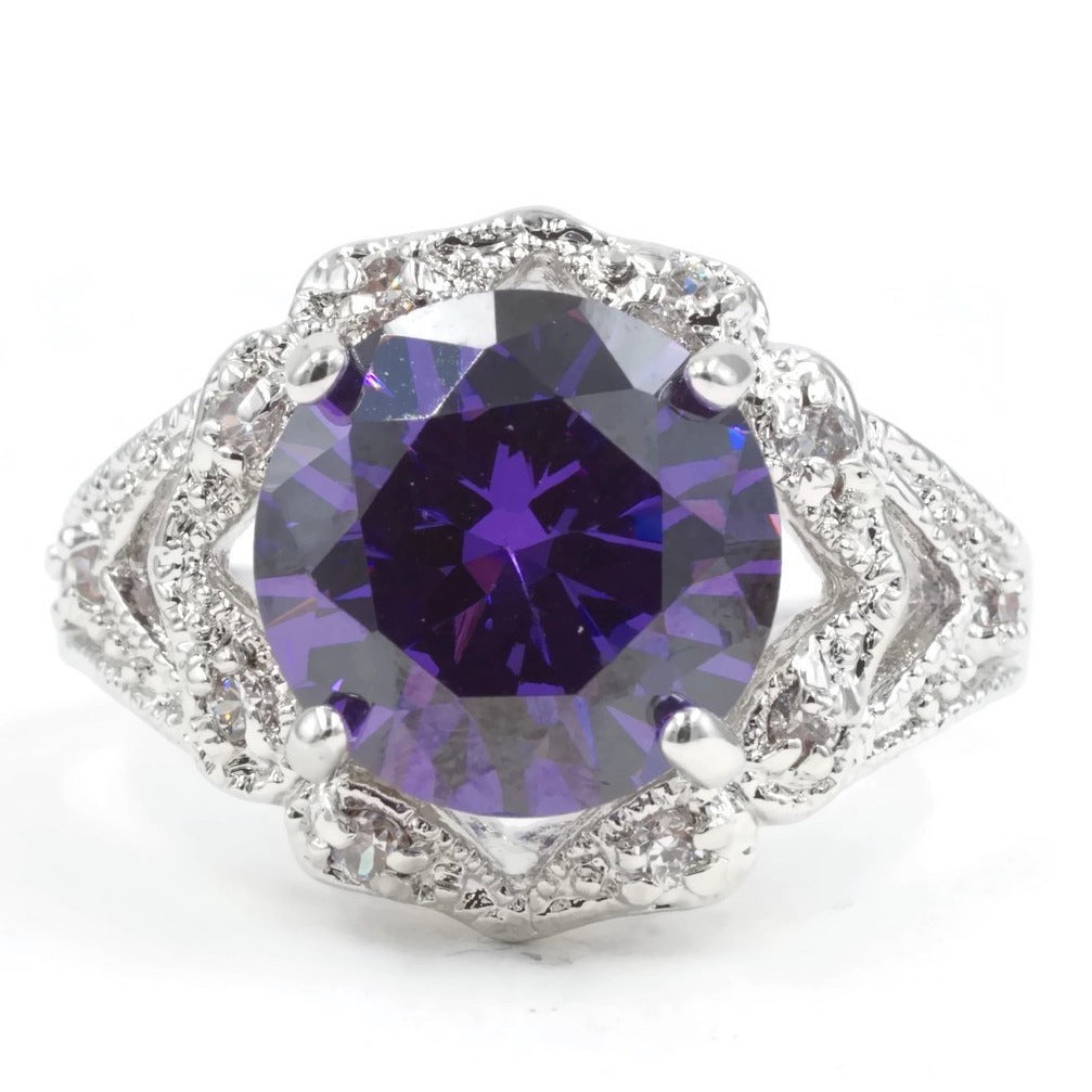 Estate Look Amethyst Single Stone Ring