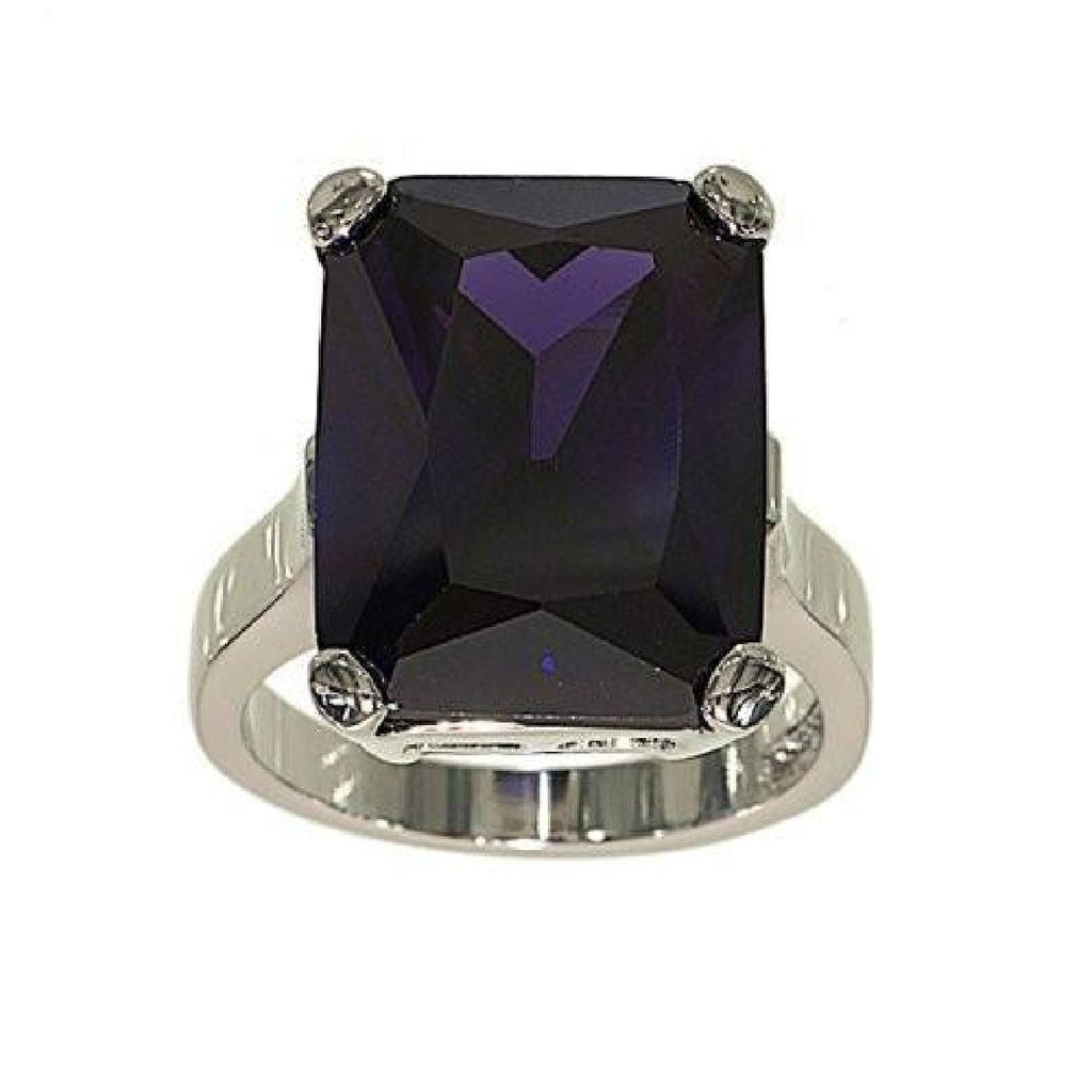 Very Large Amethyst Double Base Setting Ring