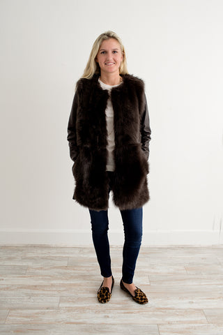 Anveglosa Clorinda Shearling and Leather Jacket