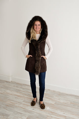 Artico Fox and Shearling Vest