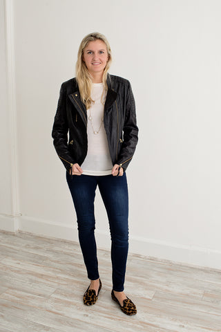 Day Birger et Mikkelsen Leather Biker Jacket