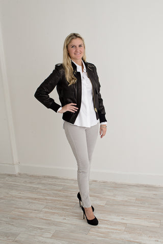 Smythe Leather Flight Jacket