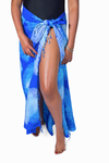Blue & White (Sky) - Handmade Batik Sarong - Palm Design