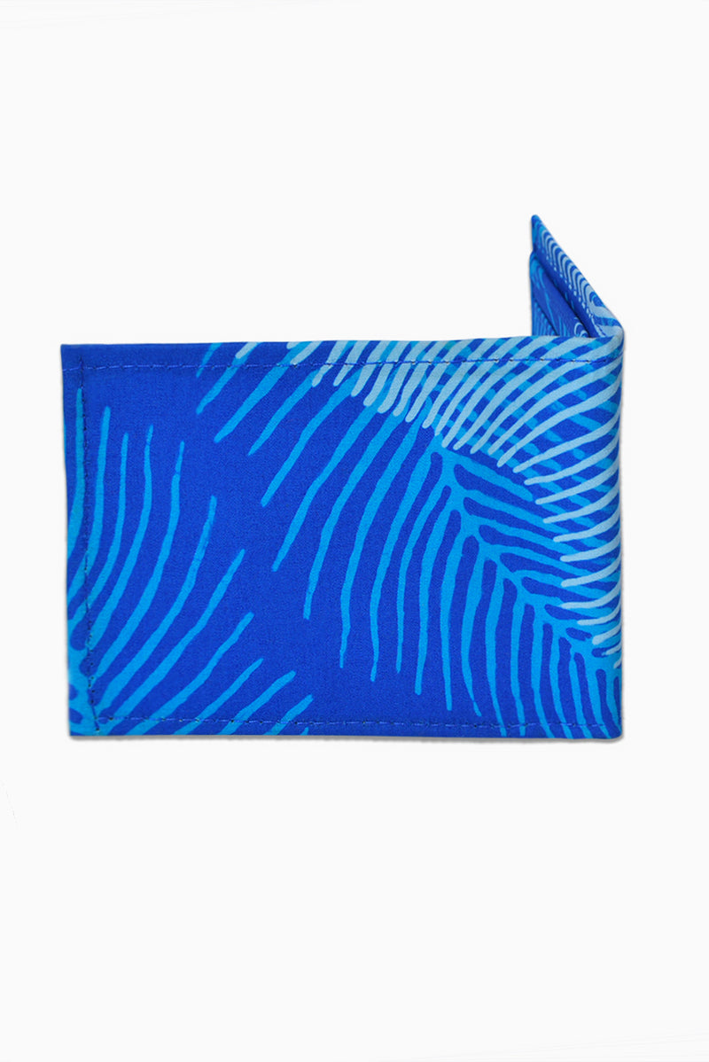 Blue & White (Sky) - Handmade Batik Wallet - Palm Design