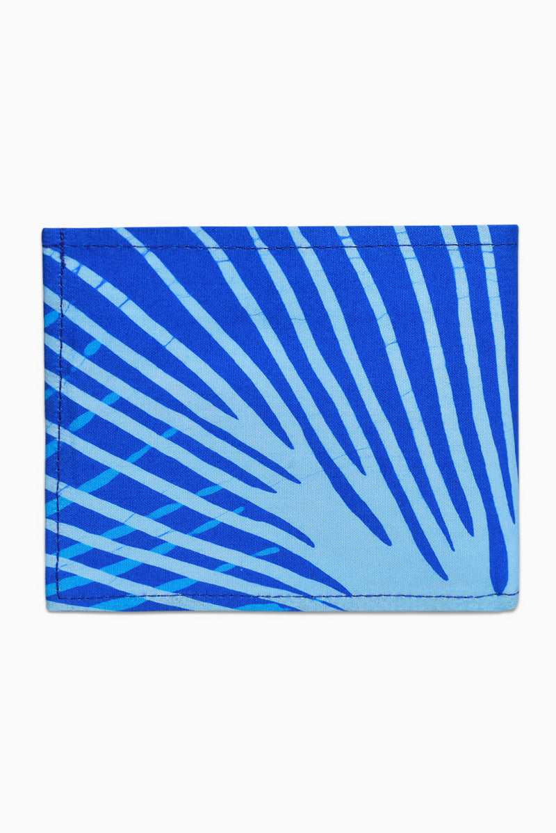 Blue & White (Sky) - Handmade Batik Wallet - Starburst Design
