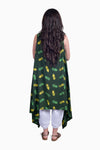 Green & Yellow (Seaweed) - Handmade Batik Kimono - Pineapple Design