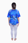 Blue & White (Sky) - Handmade Batik Top - Palm Design