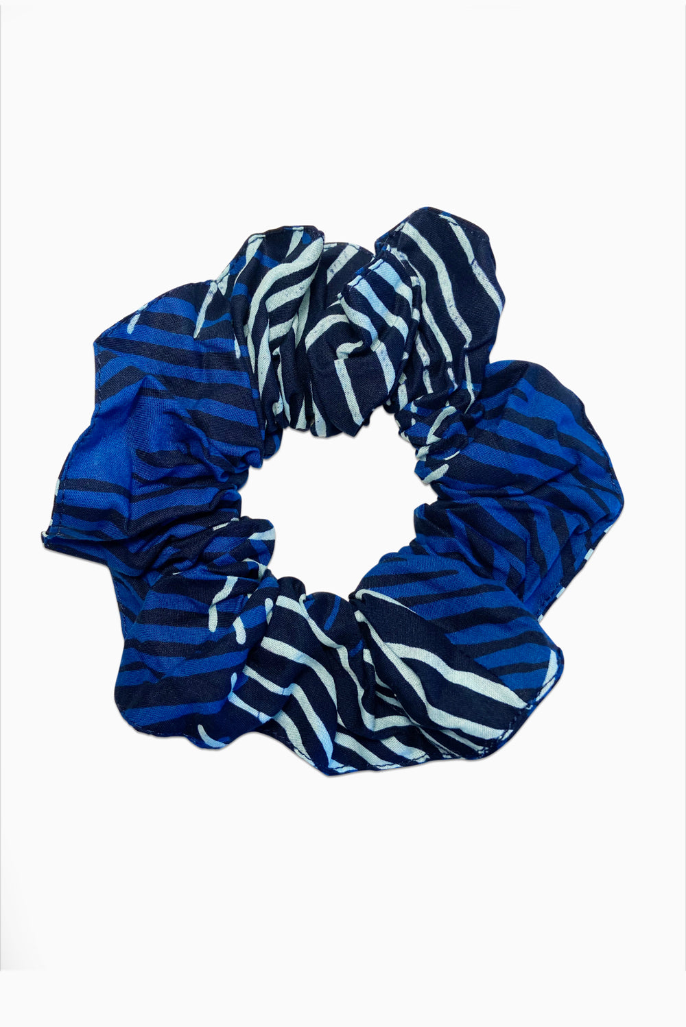 Navy & White (Bluetifful) -  Handmade Batik Scrunchie
