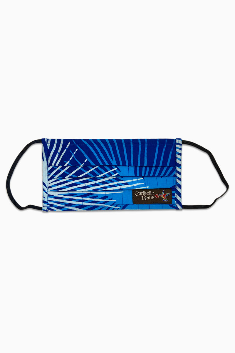 Blue & White (Sky) - Handmade Batik Reusable Face Mask - Starburst Design