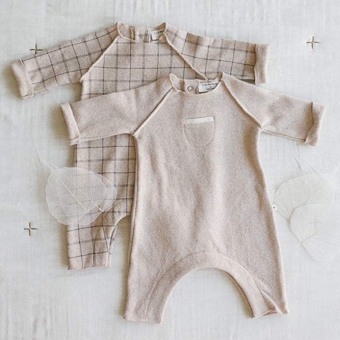 1+ In The Family Baby Alexandre Jumpsuit Cream