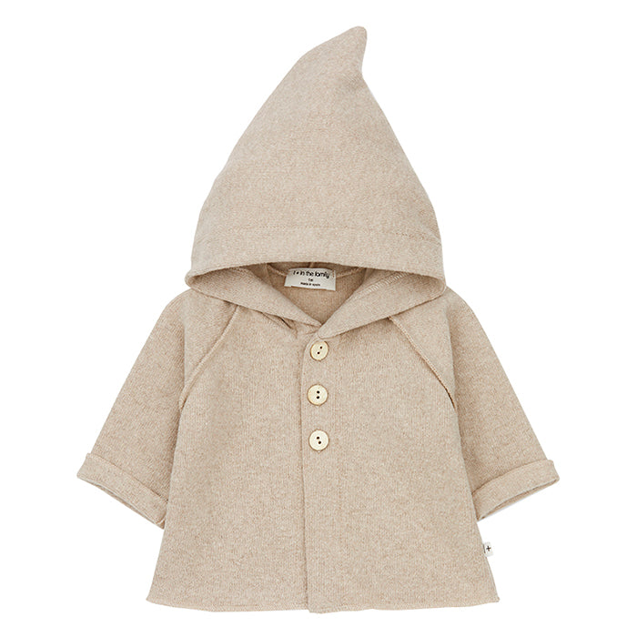 1+ In The Family Baby Alphonse Jacket With Hood Cream