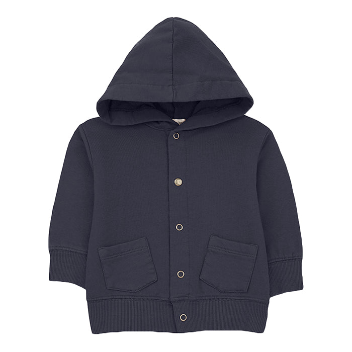 1+ In The Family Baby And Child Boi Jacket With Hood Navy Blue