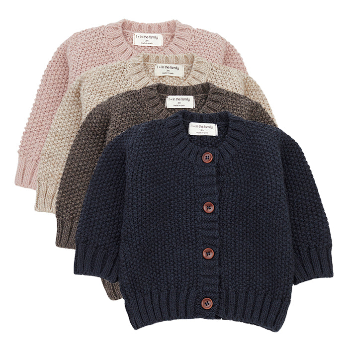 1+ In The Family Baby And Child Furka Textured Knit Sweater
