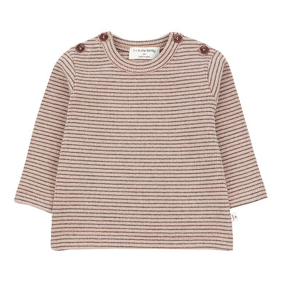 1+ In The Family Baby And Child Jasper T-shirt With Thin Stripes