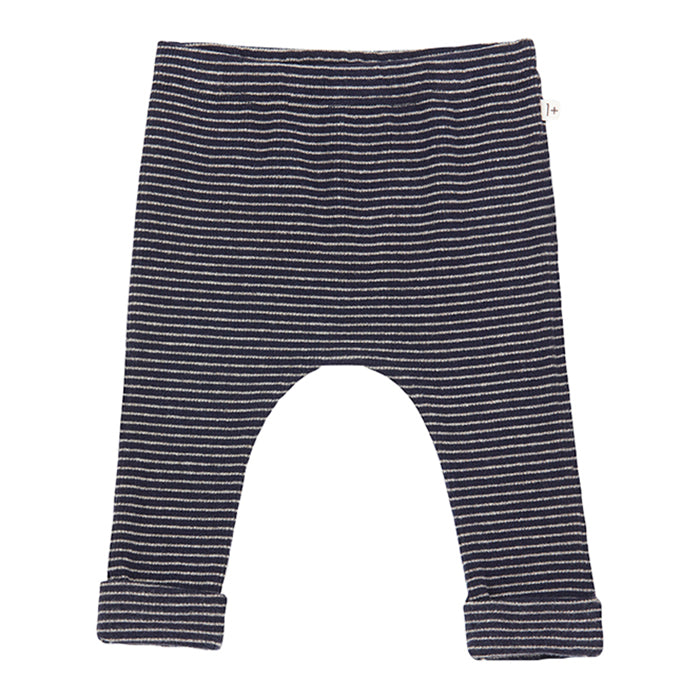 1+ In The Family Baby And Child Nunavut Leggings Navy Blue With Thin Stripes