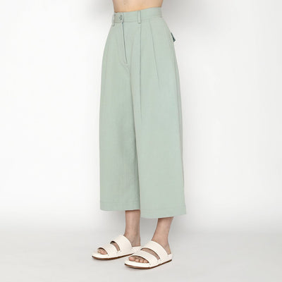 7115 By Szeki Pleated Skate Pants Aqua Green