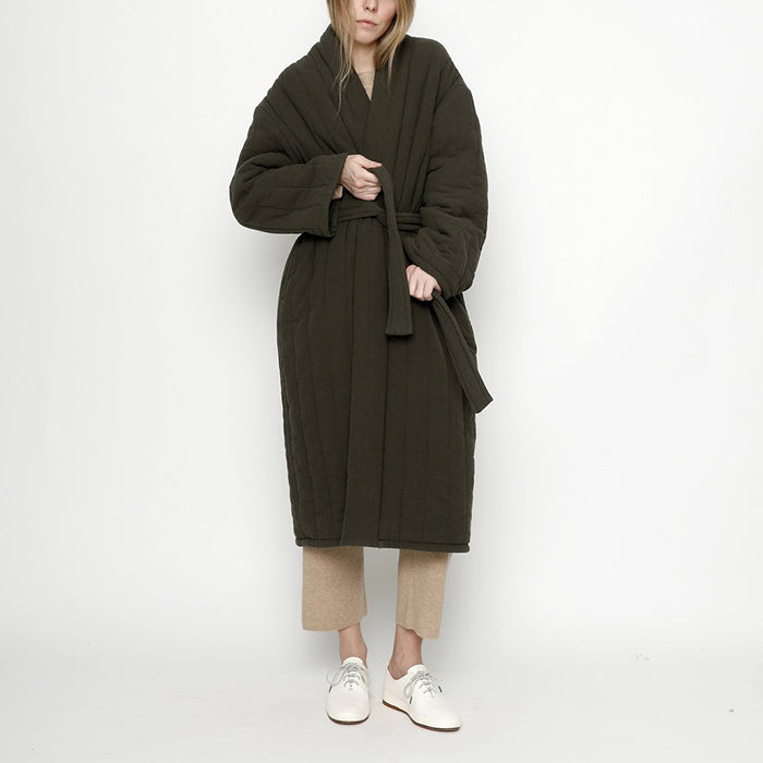 7115 By Szeki Woman Quilted Long Coat