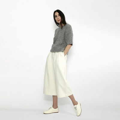 7115 By Szeki Woman Winter Skate Pants Cream