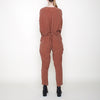 7115 by Szeki Workman Jumpsuit Rust Red