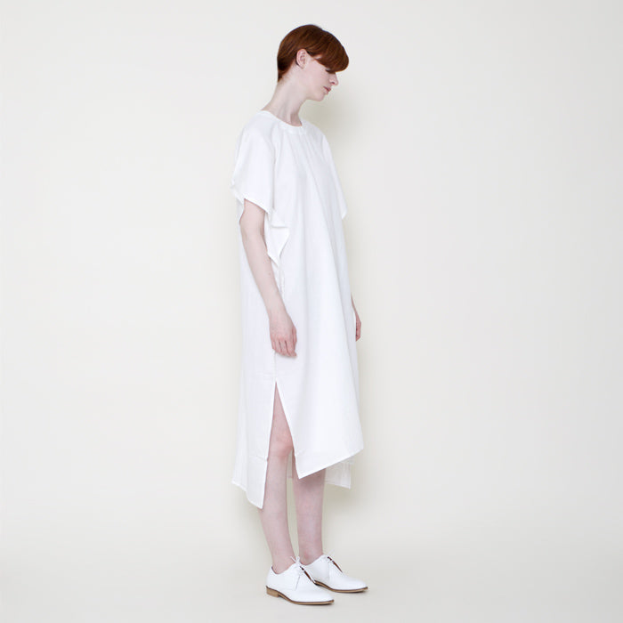 7115 by Szeki Swing Midi Dress Off-White - Advice from a Caterpillar