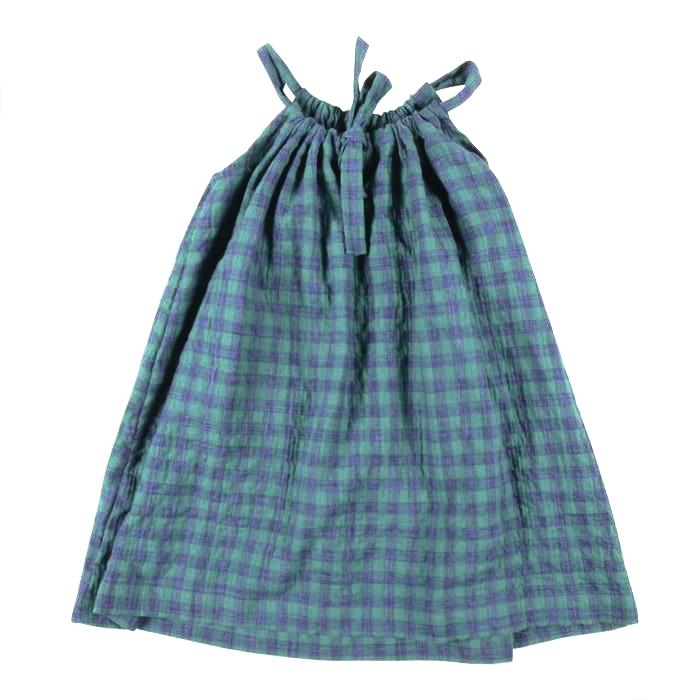 Makie Child Faith Dress Green Checks