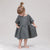 Album Di Famiglia Child Dana Linen Dress Bark Grey