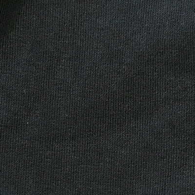 Close up of the bark grey jersey fabric.