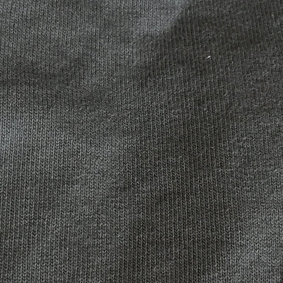 Close up of the olive grey jersey fabric.